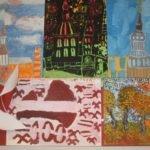 Alojas Ausekļa vidusskolas sākumskolas skolēni zīmē Latviju