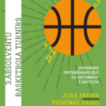 Aicina pieteikt komandas Jura Aruma piemiņas kausa turnīram basketbolā