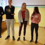 Devītklasnieki mācījās uzstāties publiskās runas nodarbībās