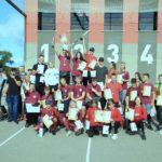 Jaunietes ugunsdzēsības sporta sacensībās Grobiņā plūc uzvaras laurus